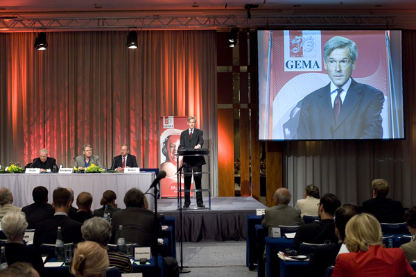 GEMA Mitgliederversammlung in Berlin 2008